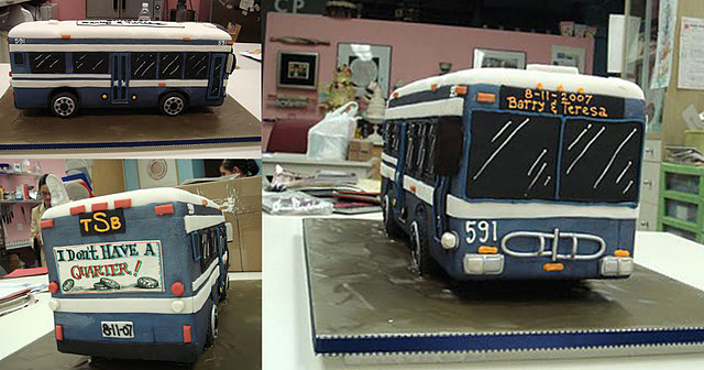 A Bus Wedding Cake