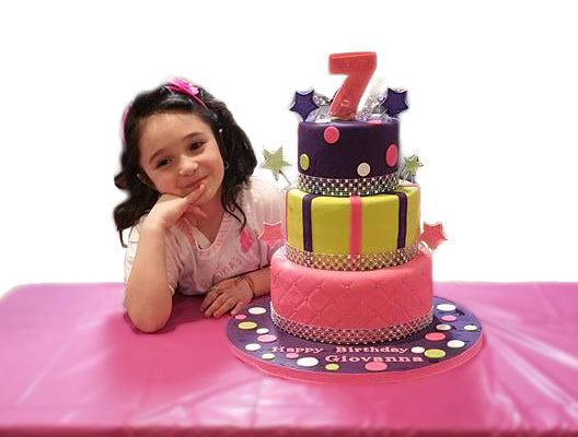 Cake to Remember for Girl turning 7 years old
