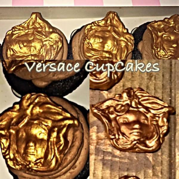 Versace-theme designer cupcakes by MaddiesCakes New York