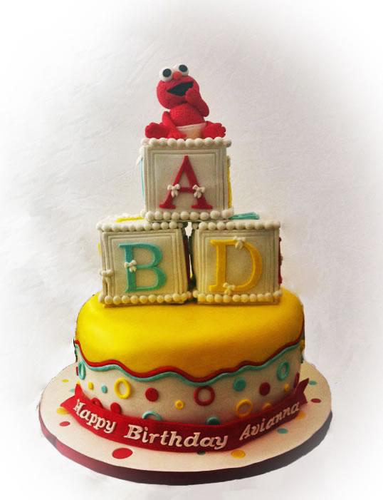 Baby Elmo Birthday Cake Maddies Cakes
