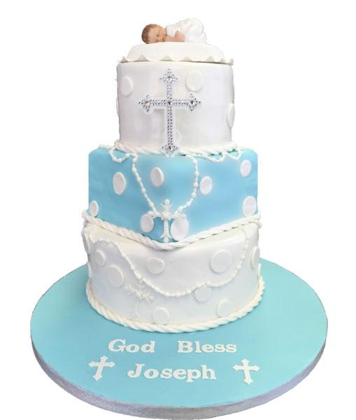 Sweet Baby Baptism Cake