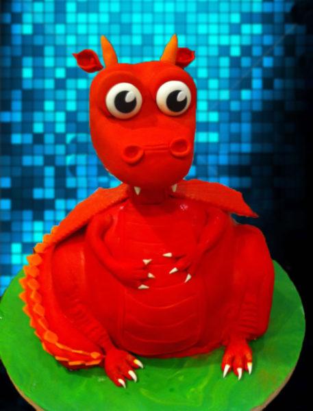 A Friendly Dragon Birthday Cake