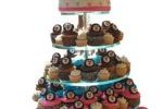 Penguin theme cupcake tower