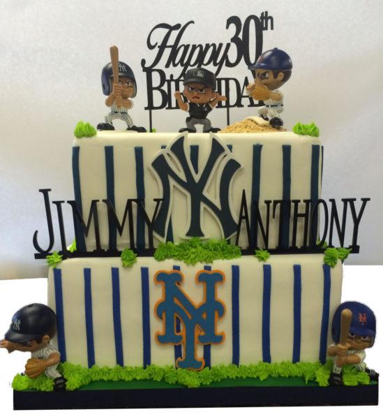 Double Team Sports Birthday Cake