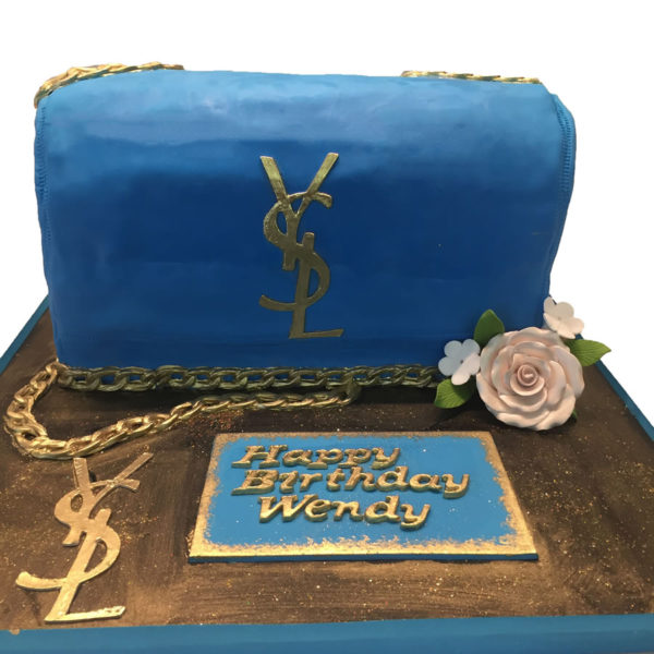 Designer YSL bag custom birthday cake