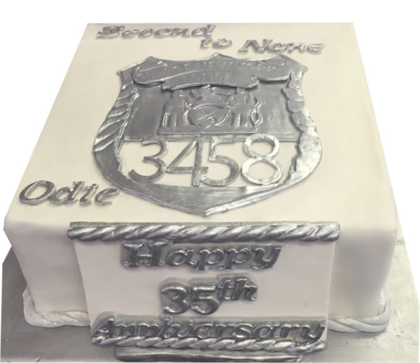 NYPD Custom Anniversary Cake for Police Officer