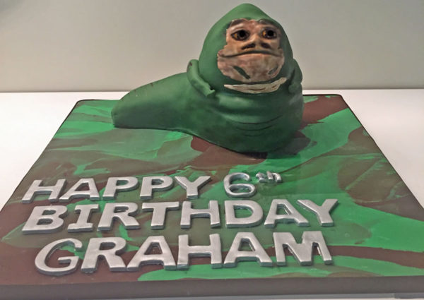 Star Wars theme custom cakes Jaba and Storm Troopers