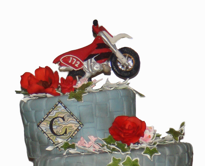 Motorcycle Theme Wedding Cake New York