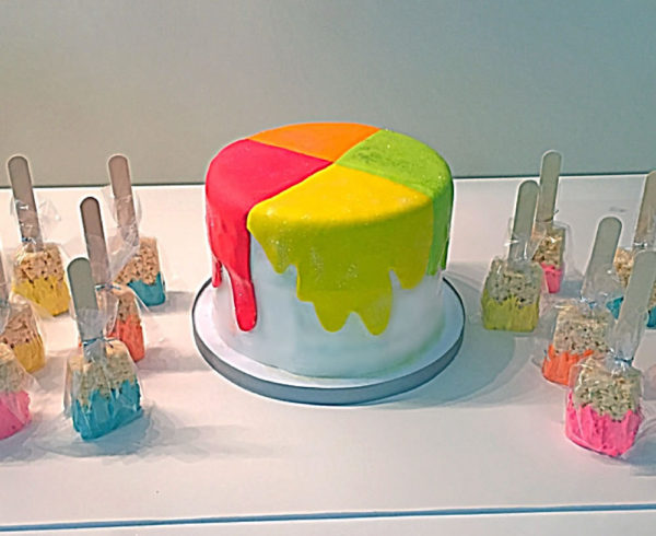 Paint Color Birthday Cake for Artist in New York